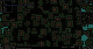 How the trees look in Dwarf Fortress.